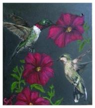 twohummingbirdswithpatunias